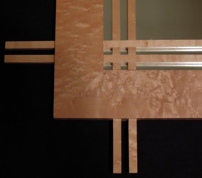 Concept Tile and Design Scott Klandl Birds Eye Maple Mirror Vermont