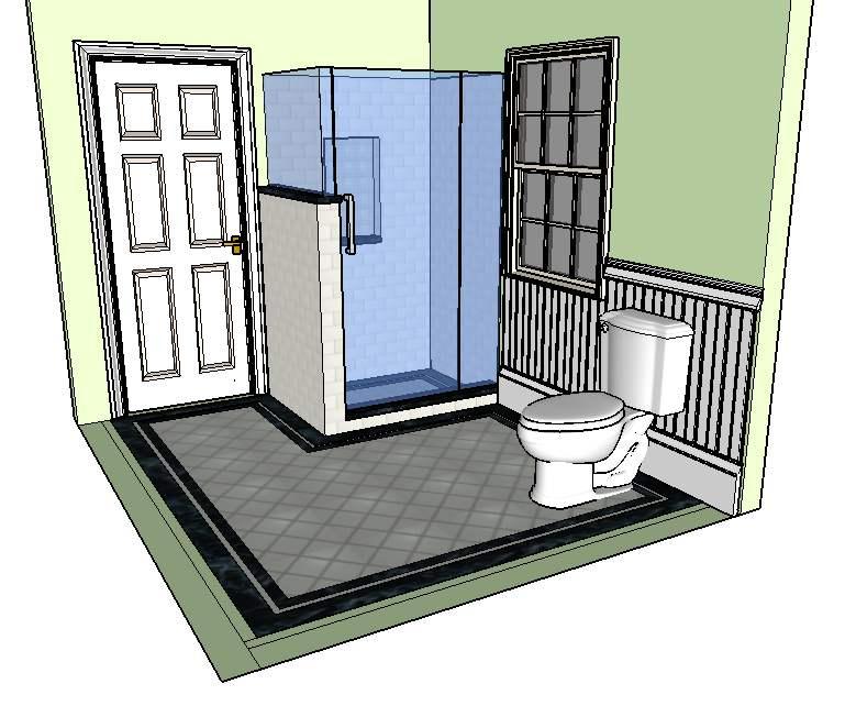 Bathroom Burlington Concept design evolution | concept