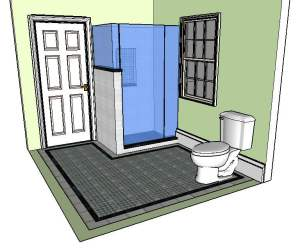 Concept Tile and Design Scott Klandl Vermont 3D Modeling Sketchup Verde Antique Serpentine Burlington Renovation Remodel Basketweave